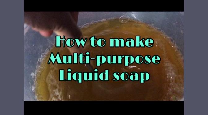 How to make multi-purpose liquid soap